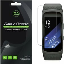 [6-Pack] Dmax Armor Full Coverage Clear Screen Protector for Samsung Gear Fit 2