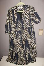 NEW WITH TAGS ba&sh Orson Printed Midi Dress Dark Blue Size L $420