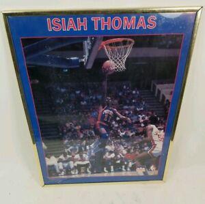 NBA Poster Isaiah Thomas Detroit Pistons Starline 1988 Framed 16 X 20