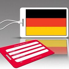 TagCrazy Luggage Tags, National Flag of Germany, Durable Plastic Loops-1 Pk