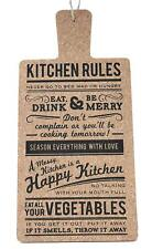 Cork Kitchen Rules Hanging Plaque Decorative Sign Fun Novelty Gift Cooking