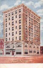 HOTEL RICKMAN FIRE PROOF KALAMAZOO MICHIGAN RPO CANCEL POSTCARD 1908