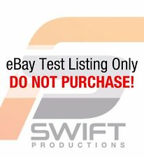 Test listing only - Do Not Purchase - Swift Productions