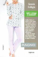PIGIAMA DONNA RAGNO MANICA LUNGA PANTALONE LUNGO IN VISCOSA TG. 48 COLORE. LILLA