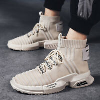 New Men's Fashion  Personality Leisure High Top Board Shoes Wearproof Students