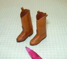 "Miniature ""Prestige Leather"" Cowboy Boots, GOLDEN BROWN (New): DOLLHOUSE 1/12"