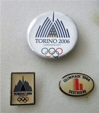 2006 TORINO Olympics 3 bid pin badge