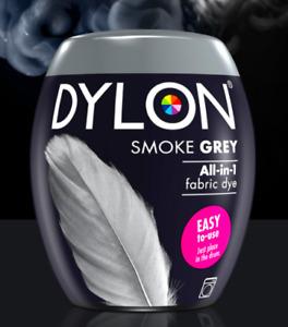 DYLON Fabric Machine Dye Pod Smoke Grey  350g Cotton Wool-Natural Fibres