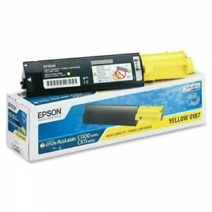EPSON Yellow 0187 High Capacity Toner Cartridge for C1100 CX11 Genuine