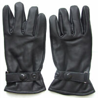 QHA Mens Soft Real Leather Fashion Winter Driving Gloves Q4