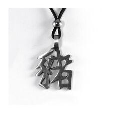 Pig Chinese Horoscope Necklace Symbol Pendant Zodiac Black Cord Astrology