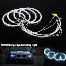 4PCS White LED CCFL Angel Eyes Halo Rings DRL Light Fit For BMW E36 E38 E39 E46