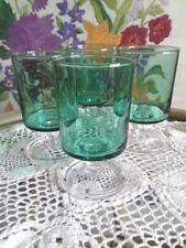 Green Mid-Century Modern Crystal Glass