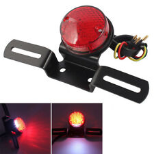 Round Red LED Tail Brake Stop Light For Motorcycle Chopper Bobber Cafe Racer USA