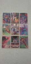 Marvel X-men Spiderman 1990's lot of 9 chase insert cards (gold metal power duo)