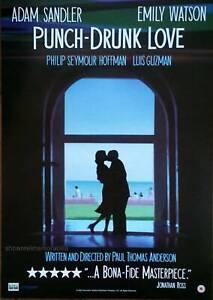 PUNCH DRUNK LOVE original 2002 UK movie poster Adam Sandler video store release