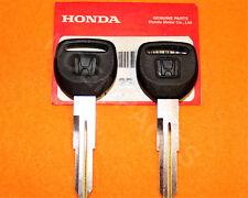 2 x NEW GENUINE Honda Master Black Key Blank 35117-SM4-901