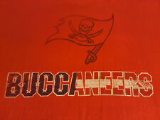 INV420 - Tampa Bay Buccaneers Flag T Shirt XL X-Large EUC NFL Football Majestic