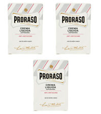 3pz PRORASO Crema Liquida Dopobarba anti irritazioni 100ml after shave rasatura