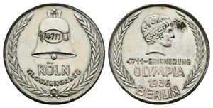 Old German Medal 4711 - Erinnerung OLYMPIA 1936 BERLIN, 18,5g D.35mm, XF.-