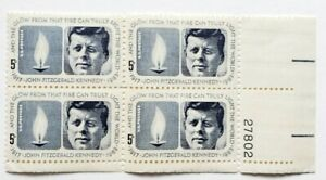 Four 1964 'John F. Kennedy' 5 Cent U.S. Postage Stamps