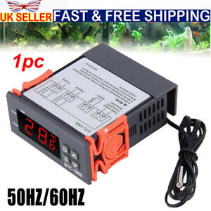 110-220V LCD Digital Temperature Controller Thermostat with Sensor STC-1000