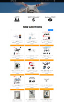 DRONE WEBSITE WITH DOMAIN & HOSTING - EASY ECOMMERCE - RUN FROM HOME