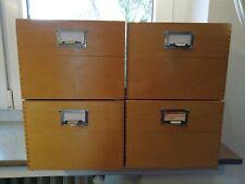 4 Karteikasten a.Holz Schwan STABILO Nr. 6325 DIN A5 quer Vintage Bauhaus-Stil