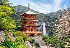 Puzzle Puzzel Seiganto-Ji Temple Japan Tempel Park Garten Romantik Berge 1000