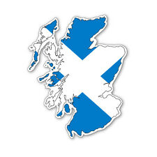 SCOTLAND MAP SILHOUETTE FLAG VINYL CAR VAN IPAD LAPTOP STICKER