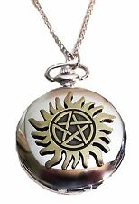 Supernatural Anti Possession Symbol Pocket Watch Necklace FABULOUS!