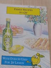 family recipes in a Jif Lemon Juice booklet Over 50 recipes