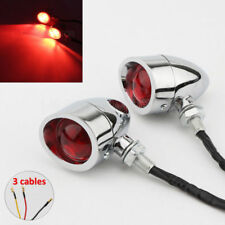 2x Motorcycle Bullet Turn Signal Red Lights Indicator Bulb For Harley Chopper