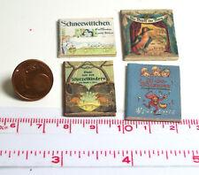 Puppenhaus M 1zu12 Puppenstube 1803# Kleines Deko-Bücherset mit 4 Büchern