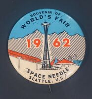 "Vintage 1962 Seattle World's Fair Space Needle Souvenir 1.5"" Pinback Button"
