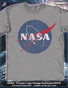 NASA Circular Logo Vintage Distressed USA America Space Apollo Mens Shirt 76-9