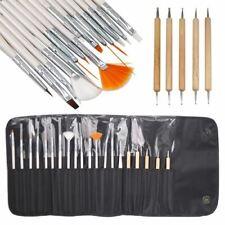 20pcs Nail Art Design Painting Dotting Detailing Pen Brushes Set Bundle Tool UK