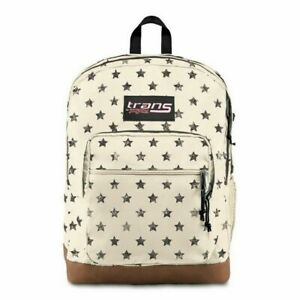 """Trans by JanSport 17"""" Super Cool Backpack - Distressed Stars NWT"""