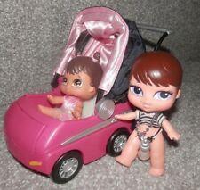 Bratz Babyz Rock Angelz IN Outfit & Pink Stroller with Bratz Baby too