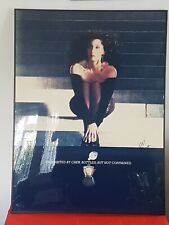 More details for very rare...  signed by cher uninhibited edt advertising print.