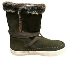 NEW TOMS Vista Faux Fur Lined Olive Green Suede Boot,  Women Size 5 $130