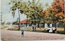 Pavillion Boyd Park between Wabash and Peru, Indiana Postcard  - on Banks of Wab