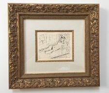 "Framed Henri Matisse ""Nu A La Chaise Longus"" Original Lithograph 1925 - COA"