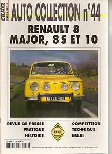 AUTO COLLECTION 44 RENAULT 8 MAJOR RENAULT 10 RENAULT 8 S RENAULT 8S R8 S R10