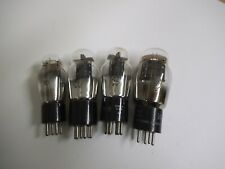 Antique Radio, Vacuum Tubes, Type 30, 42 & 47, ST Shape, 4, 5 & 6 Pin, 4 Tubes