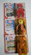 TY McDonald's International Bears II 1999 Osito Spangle Germania Teenie Babies