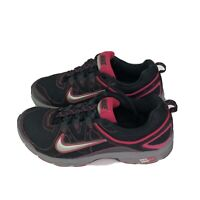 Nike Air Womens Size 8.5 Black Hot Pink  443847-001 Running Walk Shoes Sneakers