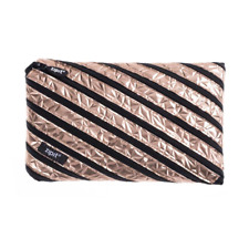 ZIPIT ZTJ-MT-1 Metallic Big Pencil Case/Cosmetic Makeup Bag - Rose Gold