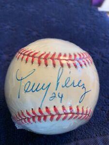 Tony Perez #24 Autographed ONL Leonard S Coleman Baseball w/COA and Photos
