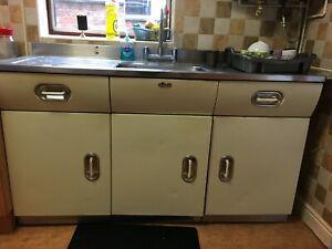 English Rose Kitchen Sink Unit, Retro 1950's-1960's, Aluminium, S/S Sink